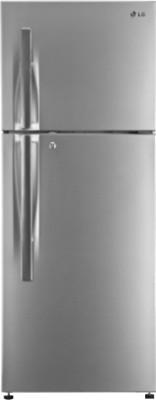 LG 335 L Frost Free Double Door Refrigerator(GL-T372HPZM, Shiny Steel, 2016)