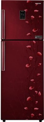 SAMSUNG 321 L Frost Free Double Door Refrigerator(RT33JSMFERZ, Tender Lily Red)