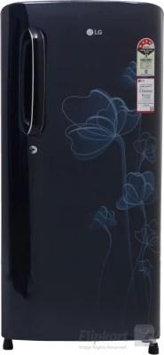 LG 190 L Direct Cool Single Door Refrigerator(GL-B201AMHP, Marine Heart, 2016)