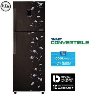 SAMSUNG 340 L Frost Free Double Door Refrigerator(RT37K3993BZ, Tender Lily Black)