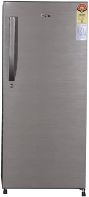 Haier 195 L Direct Cool Single Door Refrigerator(HRD-2157BS-R, brush line silver, 2016)
