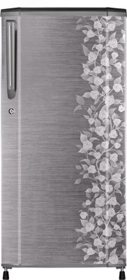 Haier 170 L Direct Cool Single Door Refrigerator(HRD-1905CGI-H, Brushed Grey Floral)