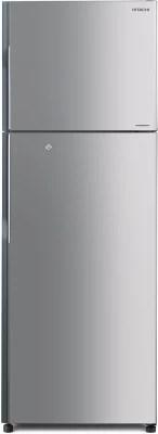 Hitachi 318 L Frost Free Double Door Refrigerator(R-H350PND4K (SLS), Metallic Silver, 2016)