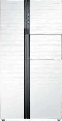 SAMSUNG 591 L Frost Free Side by Side Refrigerator(RS554NRUA1J/TL, Shiny River White, 2016)