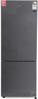 Haier 320 L Frost Free Double Door Refrigerator(HRB-3403BS-R, Brushline Silver)