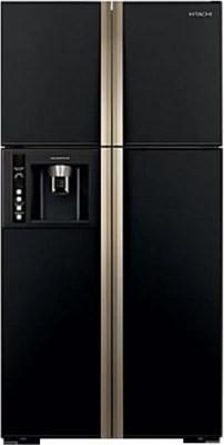 Hitachi 638 L Frost Free Side by Side Refrigerator(R-W720FPND1X, Glass Black, 2016)