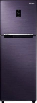 SAMSUNG 253 L Frost Free Double Door Refrigerator(RT28K3722UT, Pebble Blue)