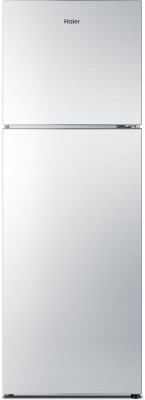 Haier 270 L Frost Free Double Door Refrigerator(HRF-2904PSG-R, Silver Glass, 2016)