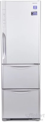 Hitachi 390 L Frost Free Triple Door Refrigerator(R-SG37BPND, Glass Silver)