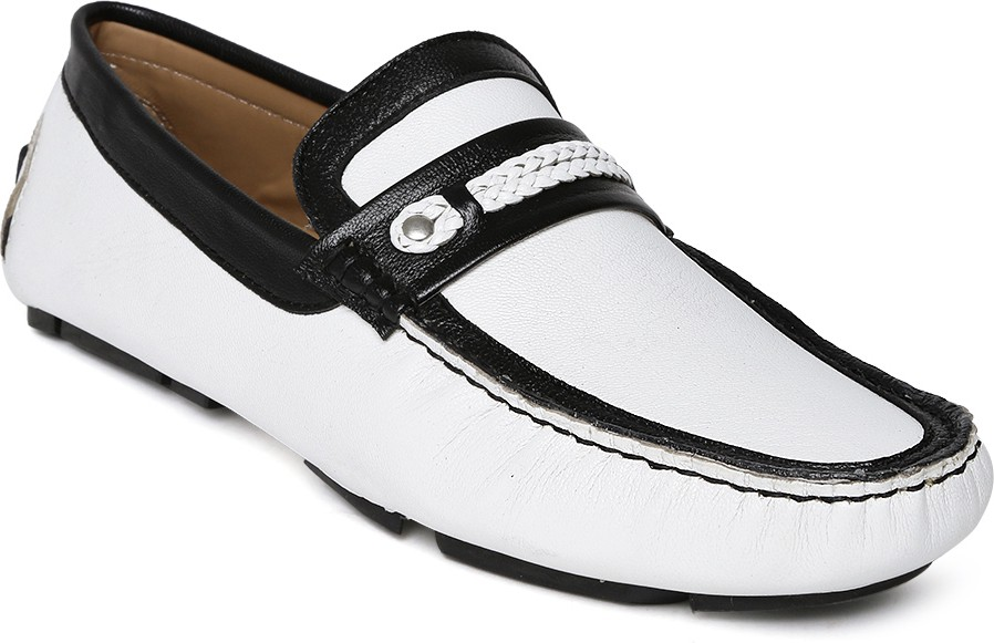 Mast & Harbour Loafers(White, Black)
