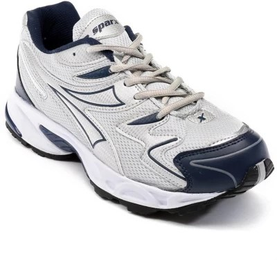 Sparx Sporty And Funky NavyBlue & Silver Running Shoes(Blue, Silver)