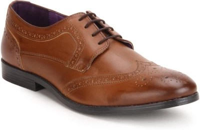 Knotty Derby Oliver Wing Cap Brogue Lace Up Shoes(Tan)