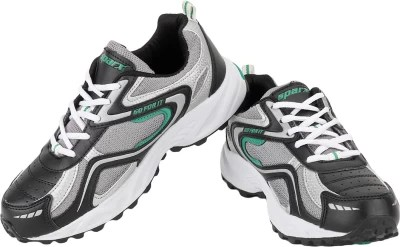 Sparx Simple Charm Running Shoes(Black, Silver)