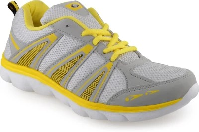 Lancer Saggi Light Grey Yellow Running Shoes(Grey)