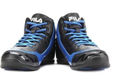 Fila TRACK Basketball Shoes(Black, Blue)