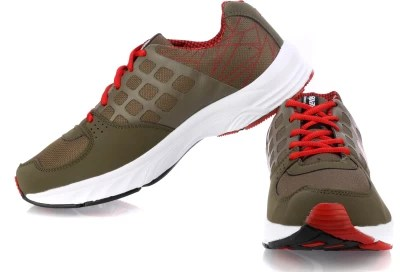 Sparx Running Shoes(Olive, Red)