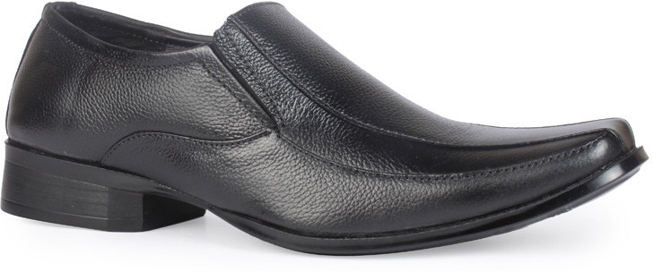 Leather King Ryan Black Slip On(Black)