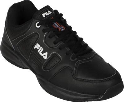 Fila Lugano 4.0 Tennis Shoes(Black, White)