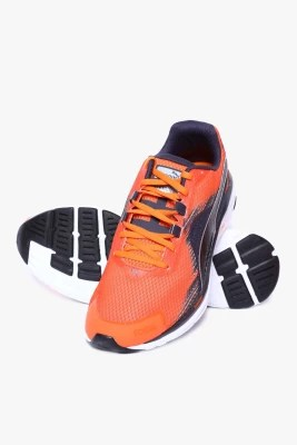 Puma Faas 500 V4 Vermillion Orange-Black-Periscope Running Shoes(Orange)