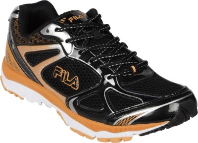 Fila Magnetus Running Shoes(Black, Orange, Silver)