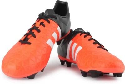 Adidas ACE 15.4 FxG Football Studs(Black, Orange)