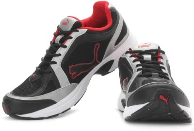 Puma Men Running Shoes(Silver, Black, White, Red)