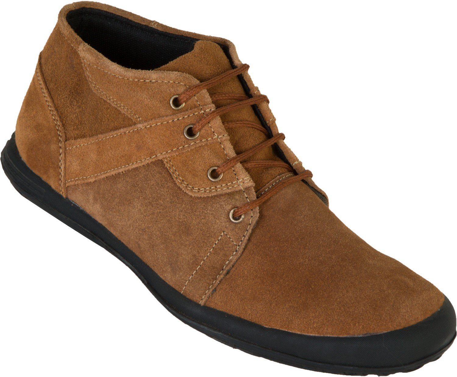 Zovi High Ankle Lace-up Casual Shoes(Brown)