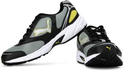 Puma Men Running Shoes(Grey, Black, Yellow)