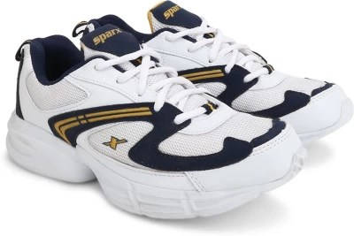 Sparx Running Shoes(White, Yellow, Navy)