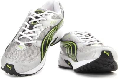 Puma Pluto-DP Men Running Shoes(Black, Green, Silver)