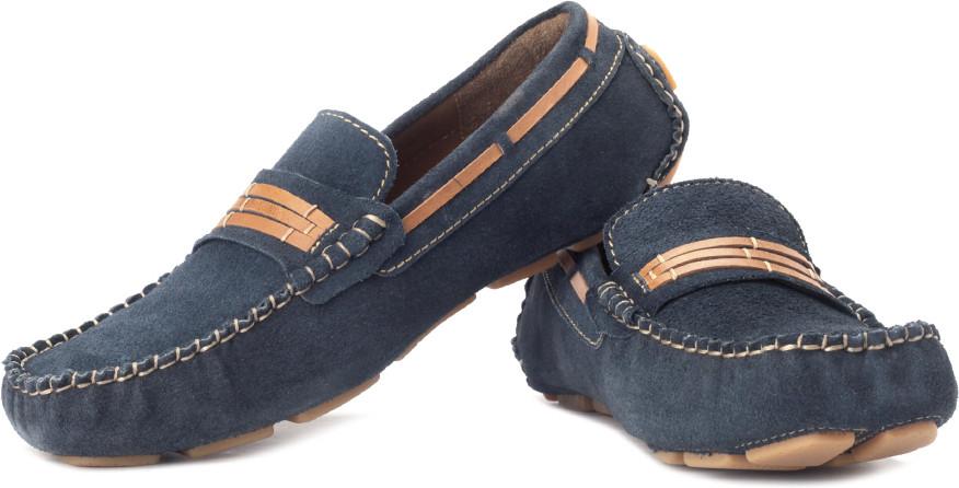 tZaro Blue Lines Loafers(Navy)