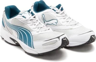 Puma Running Shoes(White, Blue)