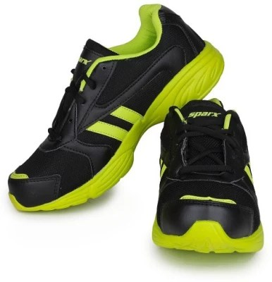 Sparx Running Shoes(Black, Green)