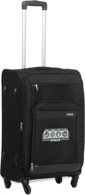Aristocrat Veyron Expandable  Check-in Luggage - 23.6 inch(Black)