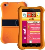Pinig Kids Smart Tablet 6 to 8 with Orange Bumper 8 GB 6.9 inch with Wi-Fi+3G(Silver & Black)