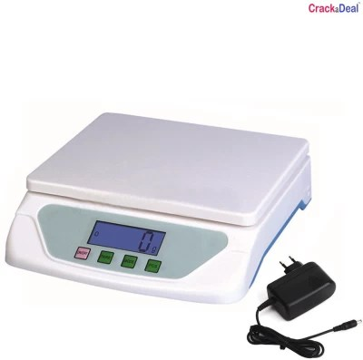 CrackaDeal New TS 500 Digital 10Kg With Adapter Electronic Weighing Scale(White, Blue)