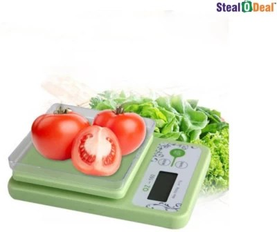Stealodeal 10 kg x 1 gm Kitchen Multi-Purpose Weighing Scale(Green)