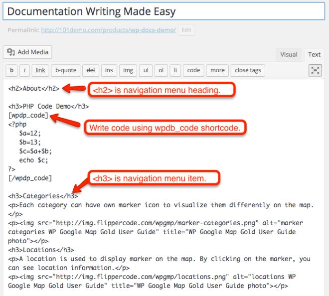 WP Docs Pro - User Input