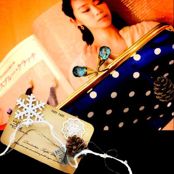 【日雜贈品】agete珠扣包 (GLOW 2013 4月號)