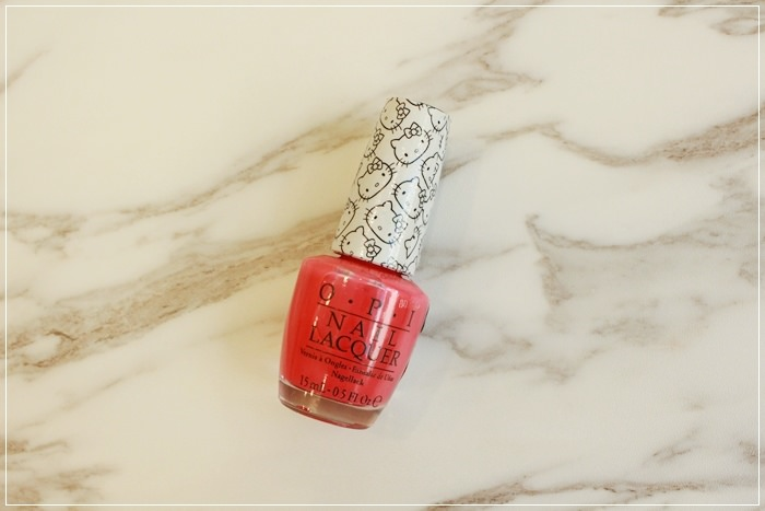 桃紅色指甲油試色-Jill Stuart 45 Love Shower OPI Hellokitty (17)