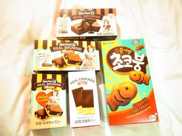 【韓國零食】Market O布朗尼&巧克力蘇打餅+麻糬小魚