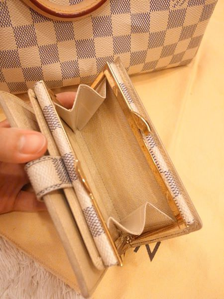 Louis Vuitton-LV-speedy 25-白色棋盤格 N41534-中夾-名片夾-零錢包-monogram-my wedding gift (29)