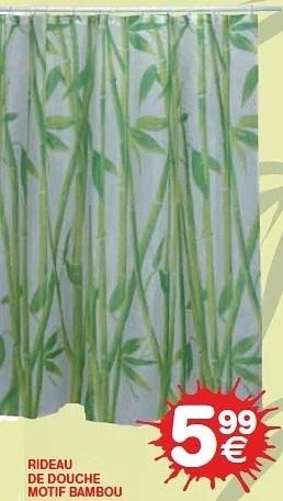 rideau de douche motif bambou