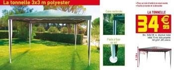 Promotion Gifi La Tonnelle 3x3 M Polyester Produit Maison Gifi Jardin Et Fleurs Valide Jusqua 4 Promobutler