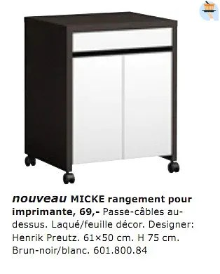 micke rangement pour imprimante
