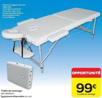 Promotion Carrefour Table De Massage Produit Maison Carrefour Soins Du Corps Valide Jusqua 4 Promobutler