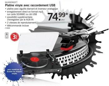 platine vinyle avec raccordement usb