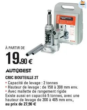 cric bouteille 2t