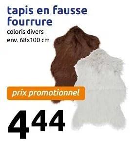 tapis en fausse fourrure