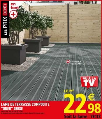 Promotion Brico Depot Lame De Terrasse Composite Oder Grise Produit Maison Brico Depot Jardin Et Fleurs Valide Jusqua 4 Promobutler